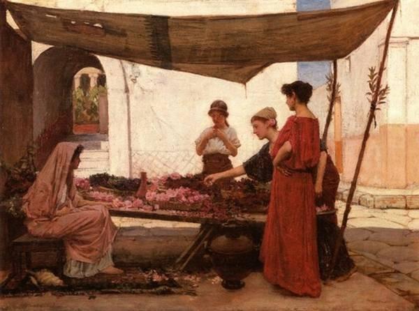 A grecian flower market JW